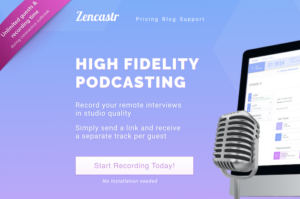 Podcasting fjerninterviews zencastr