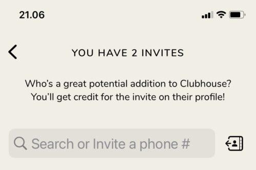 clubhouse invitation