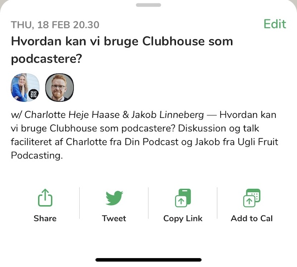 Clubhouse gruppe